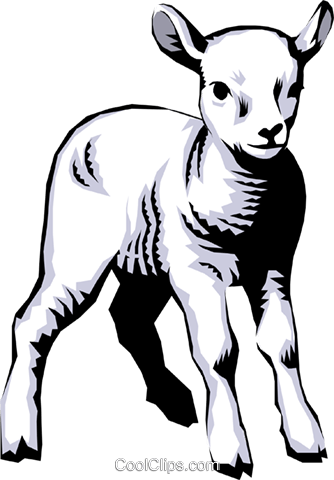 Lamb Royalty Free Vector Clip Art illustration anim0229