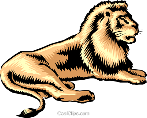 Lion Royalty Free Vector Clip Art illustration anim0231