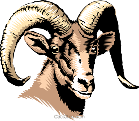 Mountain goat Royalty Free Vector Clip Art illustration anim0234