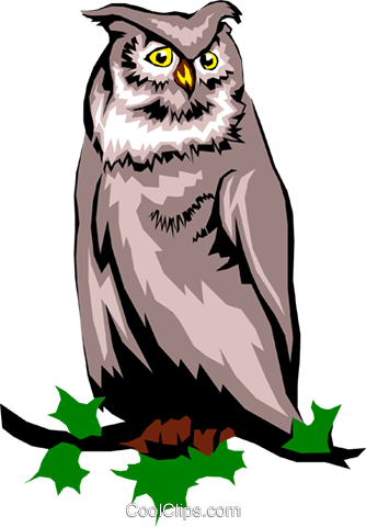 Owl Royalty Free Vector Clip Art illustration anim0237