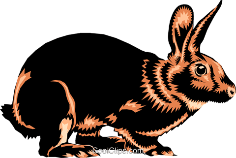 Rabbit Royalty Free Vector Clip Art illustration anim0244