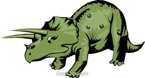 Triceratops Royalty Free Vector Clip Art illustration anim0262