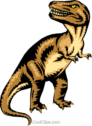 Tyrannosaurus Rex Royalty Free Vector Clip Art illustration anim0265