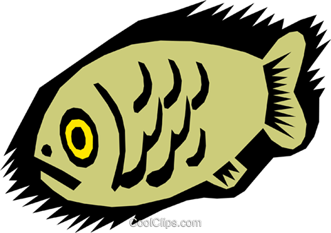 fish, caveman drawings Royalty Free Vector Clip Art illustration anim0429
