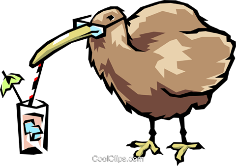 Kiwi bird Royalty Free Vector Clip Art illustration anim0473