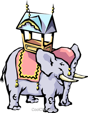 Cartoon elephant Royalty Free Vector Clip Art illustration anim0474
