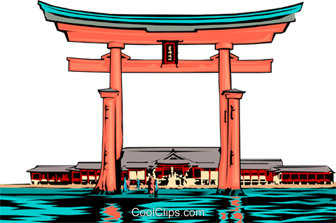 Temple Gate Royalty Free Vector Clip Art illustration arch0201