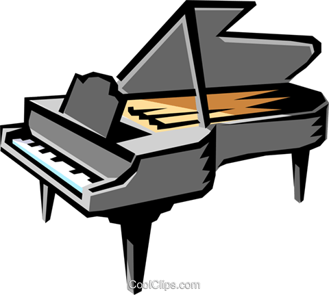 Grand piano Royalty Free Vector Clip Art illustration arts0042