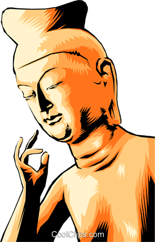 Japanese statue Royalty Free Vector Clip Art illustration arts0125