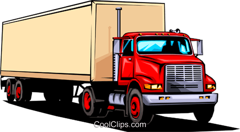 Transport truck Royalty Free Vector Clip Art illustration indu0410