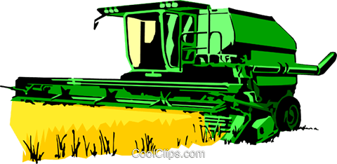 Farm combine Royalty Free Vector Clip Art illustration indu0414