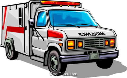 Ambulance Royalty Free Vector Clip Art illustration tran0029