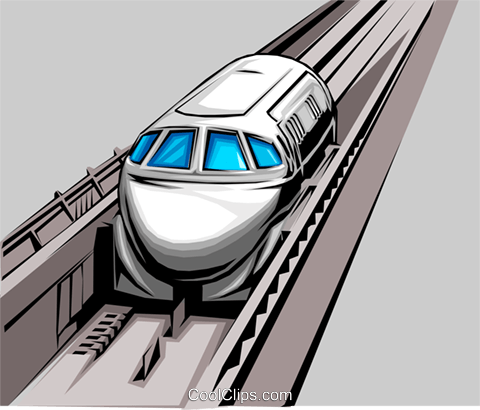 Bullet train Royalty Free Vector Clip Art illustration tran0046