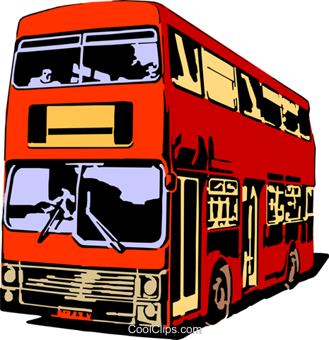 Double-decker bus Royalty Free Vector Clip Art illustration tran0053
