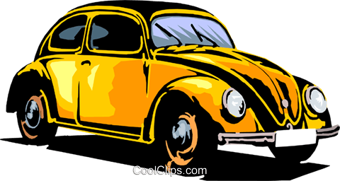 Volkswagen beetle Royalty Free Vector Clip Art illustration tran0058
