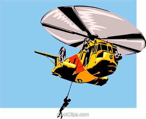 Helicopter Royalty Free Vector Clip Art illustration tran0061