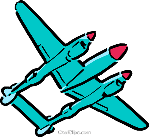 Cartoon airplanes Royalty Free Vector Clip Art illustration tran0069