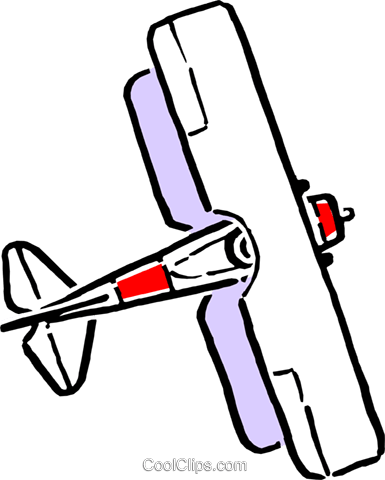 Cartoon biplane Royalty Free Vector Clip Art illustration tran0072