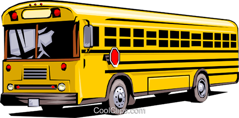 School bus Royalty Free Vector Clip Art illustration tran0082