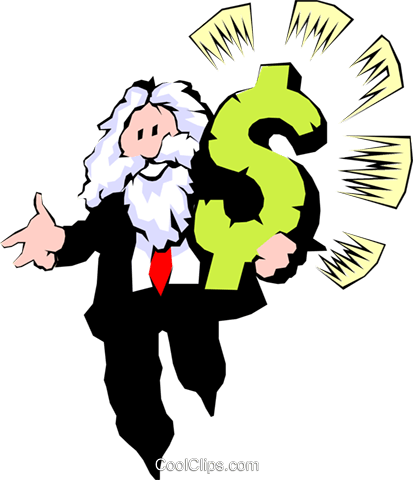 The Almighty Dollar Royalty Free Vector Clip Art illustration cart0294