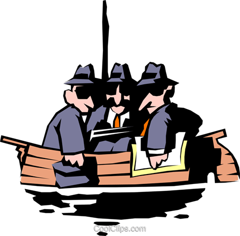 All in the same boat Royalty Free Vector Clip Art illustration cart0295