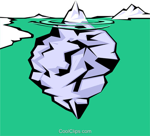 The tip of the iceberg Royalty Free Vector Clip Art illustration cart0301