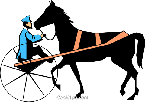 Putting the cart before the horse Royalty Free Vector Clip Art illustration cart0302