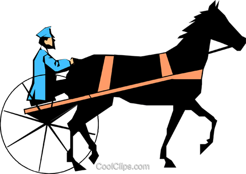 Putting the horse before the cart Royalty Free Vector Clip Art illustration cart0303