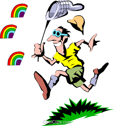 Chasing rainbows Royalty Free Vector Clip Art illustration cart0304