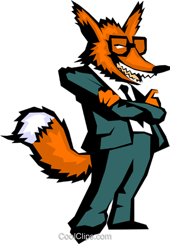 Crazy like a fox Royalty Free Vector Clip Art illustration cart0308