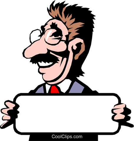 Every man has his price Royalty Free Vector Clip Art illustration cart0315