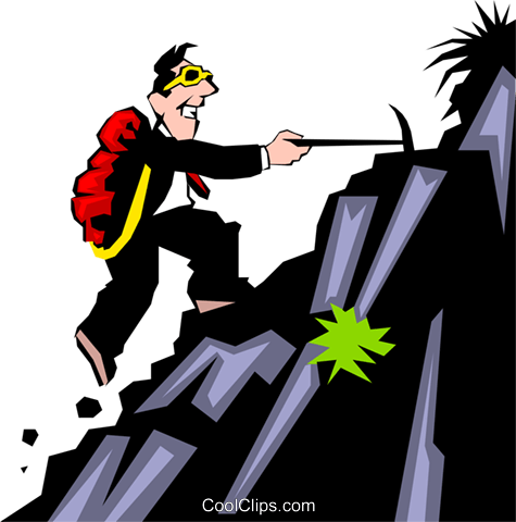 Mountain climbing theme Royalty Free Vector Clip Art illustration cart0333