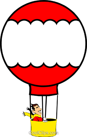Hot air balloons Royalty Free Vector Clip Art illustration cart0348