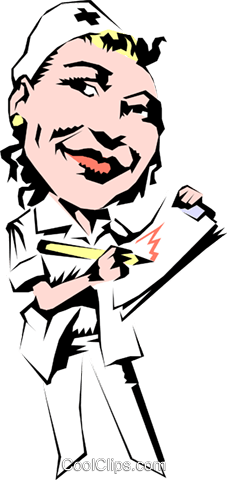 Cartoon Krankenschwester Vektor Clipart Bild cart0411