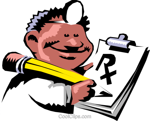 Cartoon doctor Royalty Free Vector Clip Art illustration cart0413