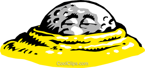 Cartoon golf ball Royalty Free Vector Clip Art illustration cart0425