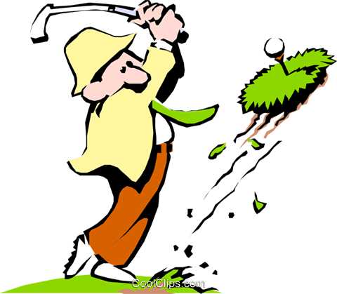 Cartoon golfer Royalty Free Vector Clip Art illustration cart0428