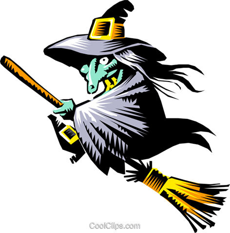 Cartoon witch Royalty Free Vector Clip Art illustration even0126