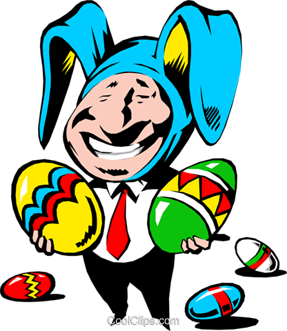 Cartoon Osterhase Vektor Clipart Bild even0128