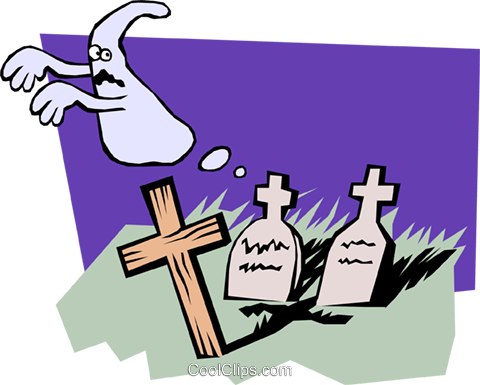 Graveyard Royalty Free Vector Clip Art illustration even0450