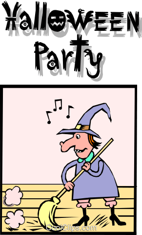 Halloween Party Royalty Free Vector Clip Art illustration even0460