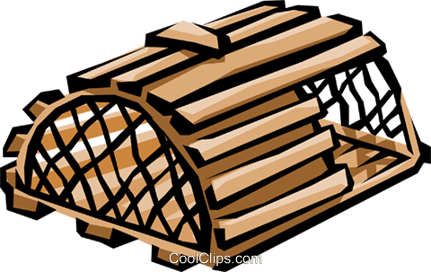 Lobster trap Royalty Free Vector Clip Art illustration indu0289