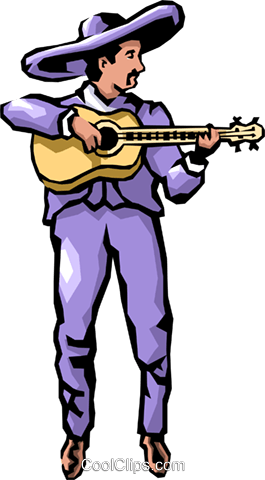 Guitar player Royalty Free Vector Clip Art illustration peop1167