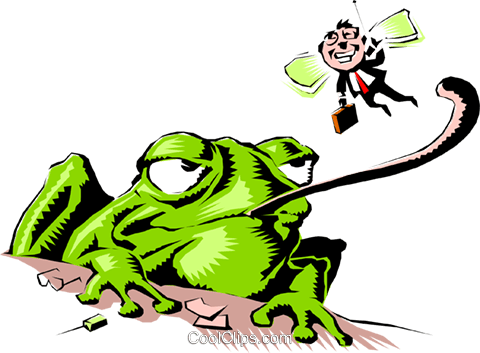 Cartoon Frosch Vektor Clipart Bild anim0563