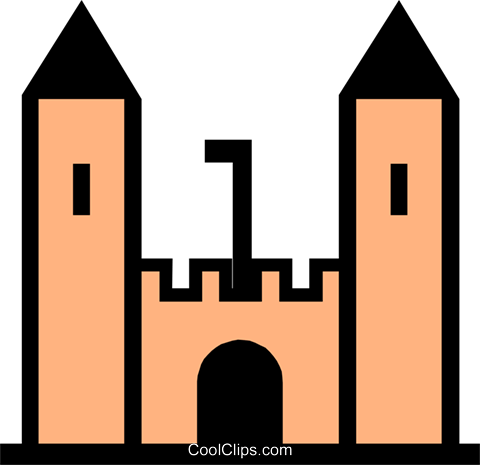 Castle symbol Royalty Free Vector Clip Art illustration arch0204