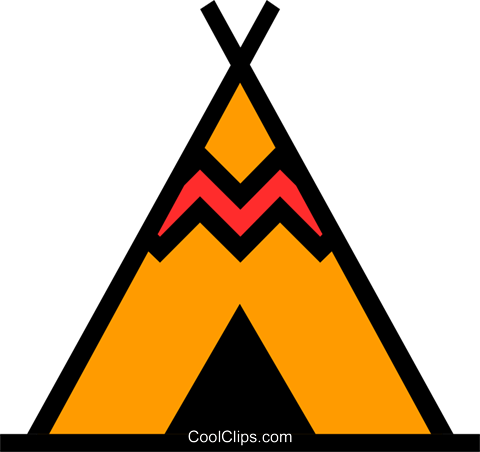 Teepee Royalty Free Vector Clip Art illustration arch0208