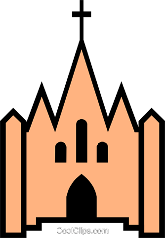 Church symbol Royalty Free Vector Clip Art illustration arch0210