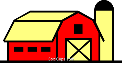 Barn Royalty Free Vector Clip Art illustration arch0211