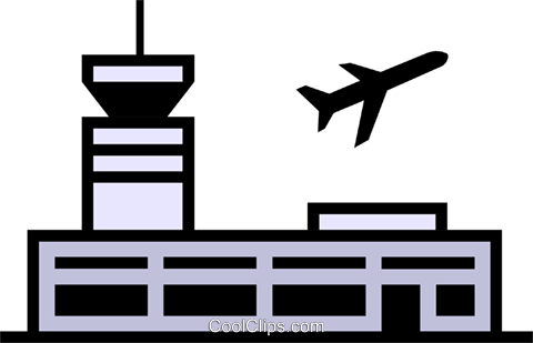 Airport symbol Royalty Free Vector Clip Art illustration arch0214