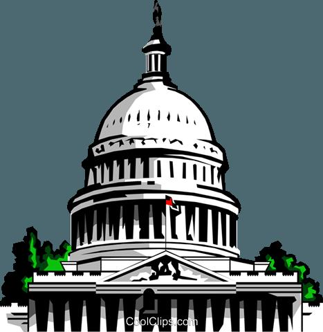 国会大厦 免版税矢量剪贴画插图